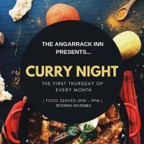 THE ANGARRACK INN PRESENTS... CURRY NIGHT THE FIRST THURSDAY OF EVERY MONTH | FOOD SERVED 6PM - 9PM | BOOKING ADVISABLE